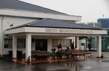 A general view of Bukit Jalil immigration detention center in Kuala Lumpur