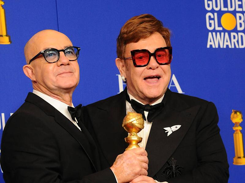 Elton John and Bernie Taupin 'keeping fingers crossed' for Oscars success