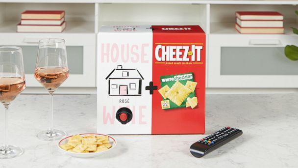 PHOTO: House Wine rosé and Cheez-It white cheddar boxes are available for a limited time. (Cheez-It)