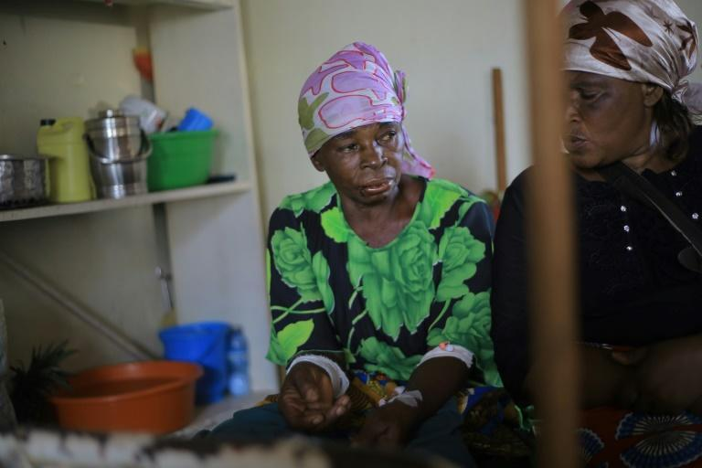 'I had just entered the church,' Antoinnette Kavira told AFP from her hospital bed