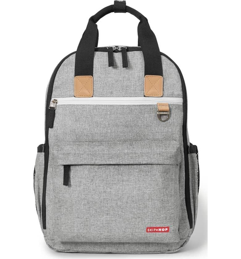<p>The <span>Skip Hop 'Duo Signature' Diaper Backpack</span> ($70) is durable and roomy.</p>