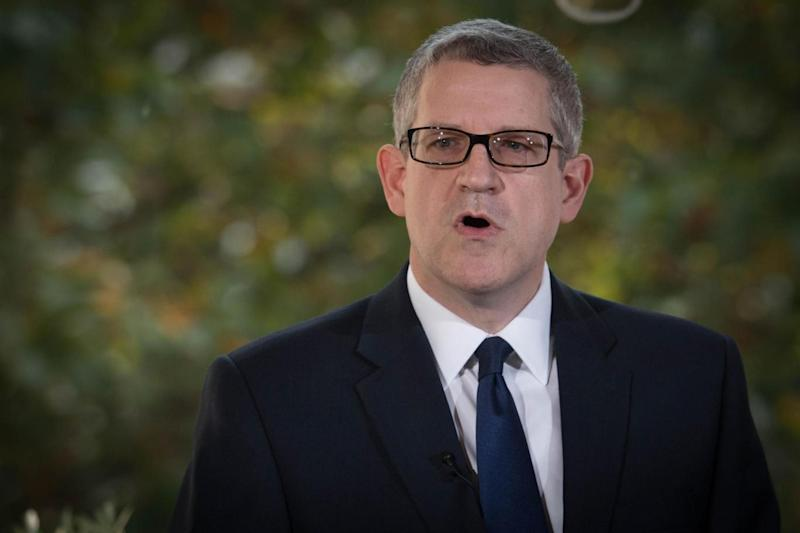 Director General of MI5 Andrew Parker delivered a speech in central London today. (PA)