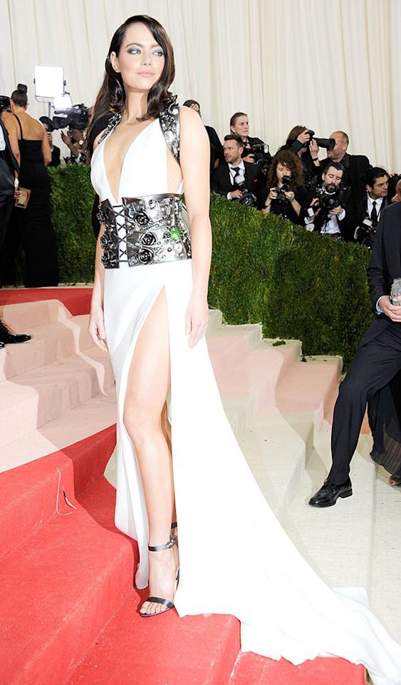 <p>The Met Gala made her do it! The actress turned it up to 11 for the 2016 fashion ball between the sexy upper-thigh slit, dark locks, and smoldering eyes. She gets an <i>Easy A</i> for sex appeal. (Photo: Rabbani and Solimene Photography/Getty Images) </p>