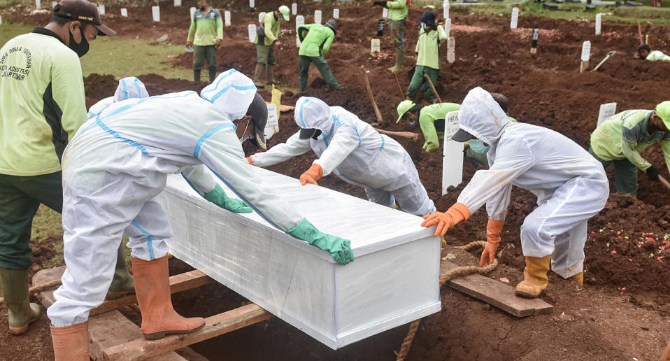More than 11,000 people have died in Indonesia since teh beginning of the pandemic. Source: AP