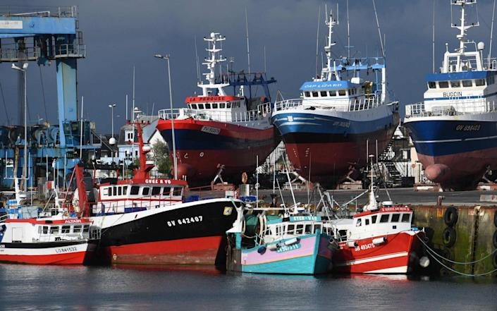 Fishing boats in the port of Le Guilvinec, western France - AFP