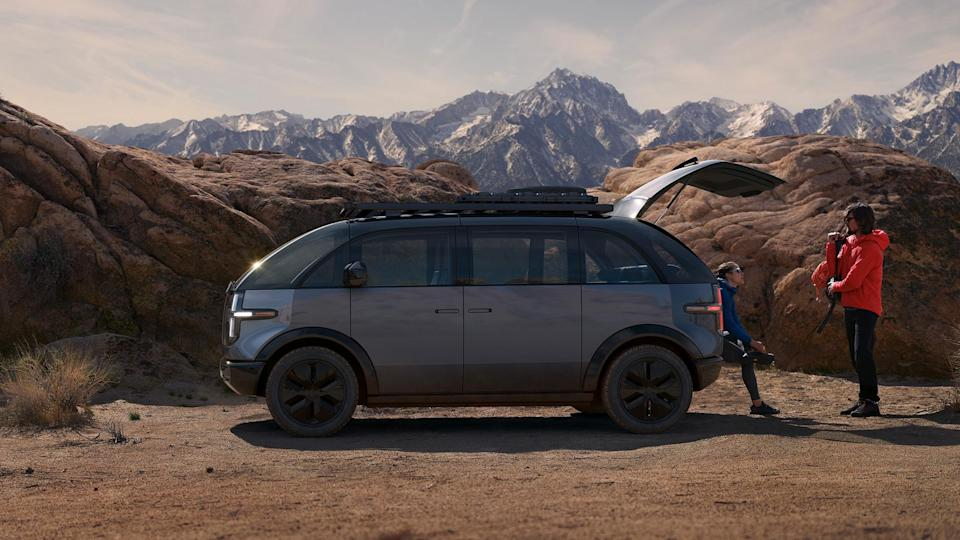 The exterior of the Canoo Lifestyle Vehicle. - Credit: Canoo