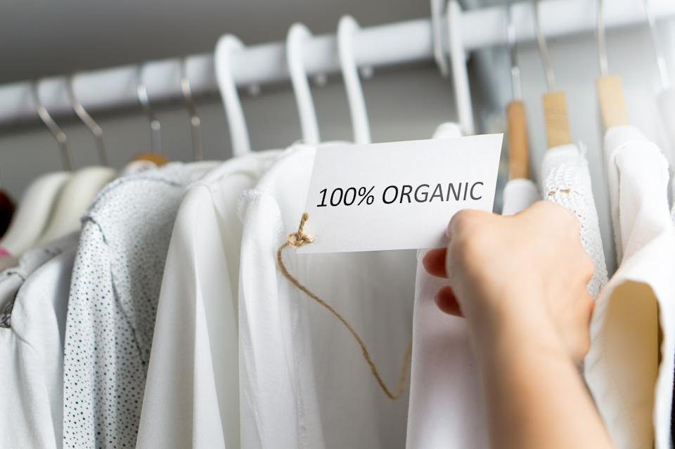 T-shirt made of 100% and hundred percent organic materials. Customer with responsible and nature and eco friendly values.