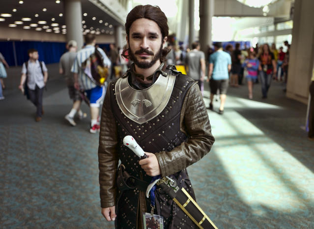 <p>Adam Gilmore, from Carlsbad, Calif., as Jon Snow from <em>Game of Thrones</em> at Comic-Con International on July 18, 2018, in San Diego. (Photo: Richard Vogel/AP) </p>