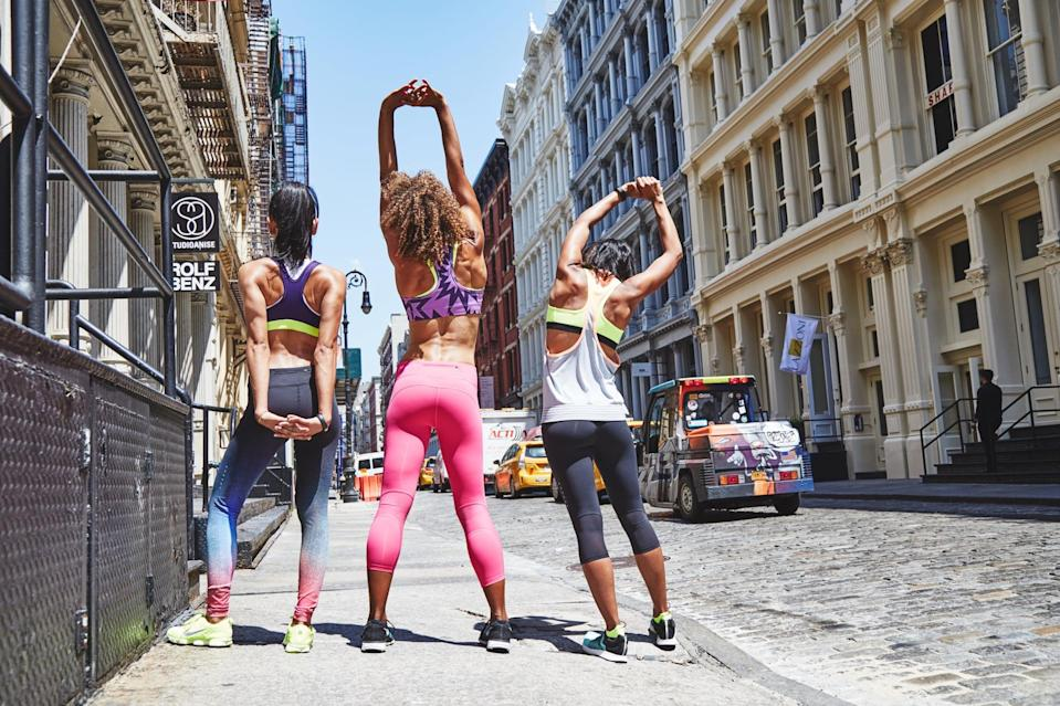 """<p>It's important to keep things fresh by <a href=""""https://www.popsugar.com/fitness/why-variety-was-key-to-making-my-fitness-goals-stick-47217597"""" class=""""link rapid-noclick-resp"""" rel=""""nofollow noopener"""" target=""""_blank"""" data-ylk=""""slk:mixing up your exercise routine"""">mixing up your exercise routine</a>. The variety will stop your body from hitting a plateau, and you'll be less likely to get injured and burned out. </p>"""