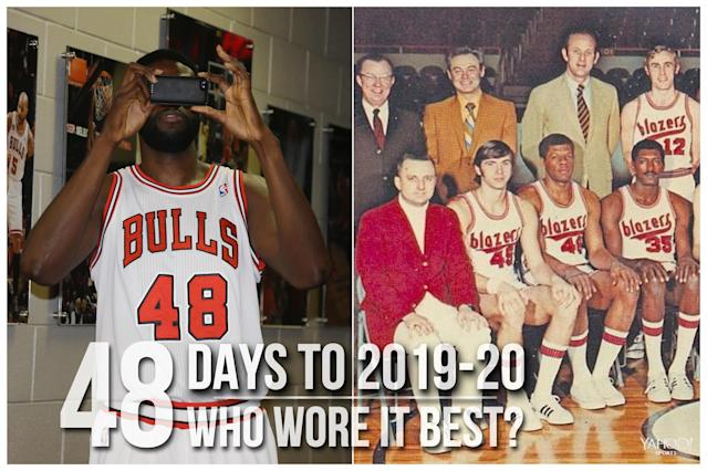 Which NBA player wore No. 48 best?