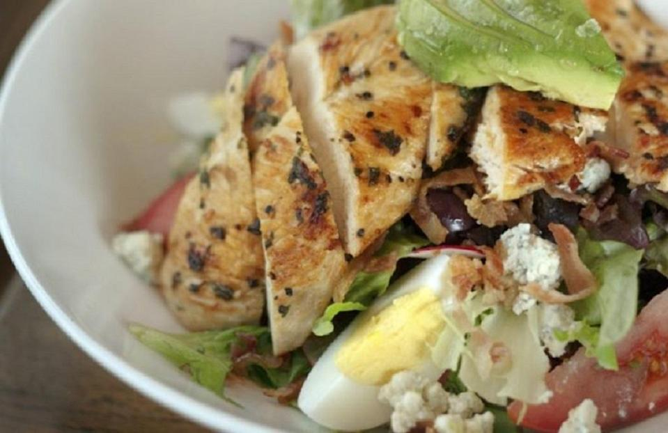 """<p>Cobb salad is an <a href=""""https://www.thedailymeal.com/classic-american-recipes-over-decades?referrer=yahoo&category=beauty_food&include_utm=1&utm_medium=referral&utm_source=yahoo&utm_campaign=feed"""" rel=""""nofollow noopener"""" target=""""_blank"""" data-ylk=""""slk:iconic American dish"""" class=""""link rapid-noclick-resp"""">iconic American dish</a>, one that makes appearances in restaurants across the country. This recipe keeps the timeless lunch meal light by using a dijon vinaigrette.</p> <p><a href=""""https://www.thedailymeal.com/recipes/best-cobb-salad-recipe?referrer=yahoo&category=beauty_food&include_utm=1&utm_medium=referral&utm_source=yahoo&utm_campaign=feed"""" rel=""""nofollow noopener"""" target=""""_blank"""" data-ylk=""""slk:For the Cobb Salad With Dijon Vinaigrette Dressing recipe, click here."""" class=""""link rapid-noclick-resp"""">For the Cobb Salad With Dijon Vinaigrette Dressing recipe, click here.</a></p>"""
