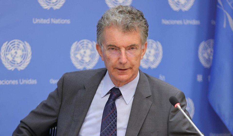 """Christoph Heusgen, Germany's UN ambassador, asked: """"If you have nothing to hide, why do you not finally grant unimpeded access to the high commissioner for human rights?"""" Photo: Europa Newswire/Gado/Getty Images"""