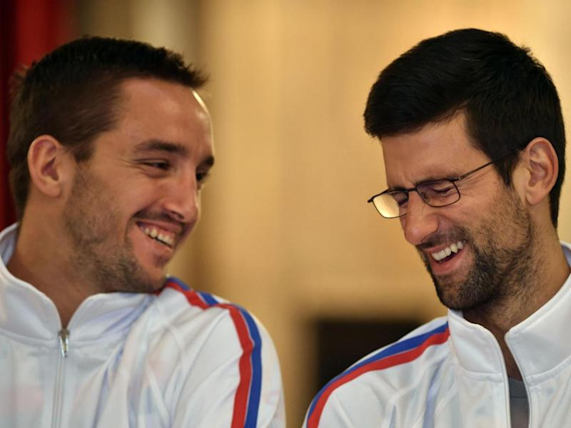 Djokovic went out of his way to help his compatriot and friend (Getty)