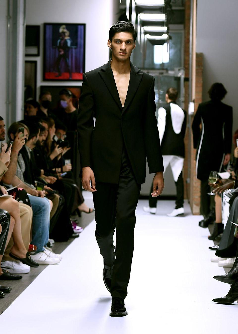 <p><strong>Wear: </strong>The suits</p>
