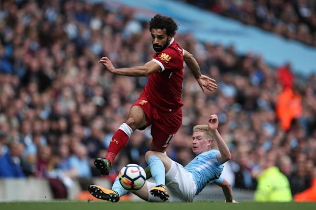 Mohamed Salah and Kevin De Bruyne were the top two candidates for PFA Player of the Year. (Getty)