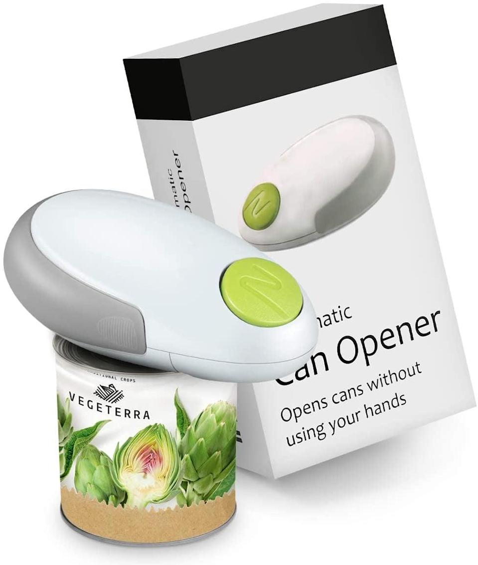 <p>Make life easier with this <span>Electric Can Opener</span> ($16). No more struggling with cans.</p>