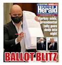 "BOSTON HERALD, Published in Boston, Mass. USA (Courtesy <a href=""https://www.newseum.org/todaysfrontpages/"" rel=""nofollow noopener"" target=""_blank"" data-ylk=""slk:Newseum"" class=""link rapid-noclick-resp"">Newseum</a>)"