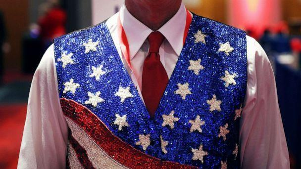 PHOTO: A delegate is seen at the Charlotte Convention Center before the roll call vote to renominate Donald Trump to be President of the United States and Mike Pence to be Vice President, in Charlotte, N.C., Aug. 24, 2020. (Travis Dove/Pool via Reuters)