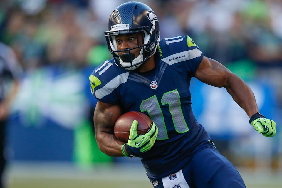 Percy Harvin confirmed that he gave Golden Tate a black eye before the Super Bowl. (Getty Images)