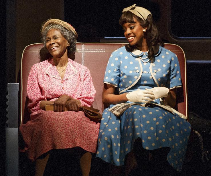 """This theater publicity image released by The Hartman Group shows Cicely Tyson, left, and Condola Rashad, during a performance of """"The Trip to Bountiful"""" at the Stephen Sondheim Theatre in New York. (AP Photo/The Hartman Group, Joan Marcus)"""