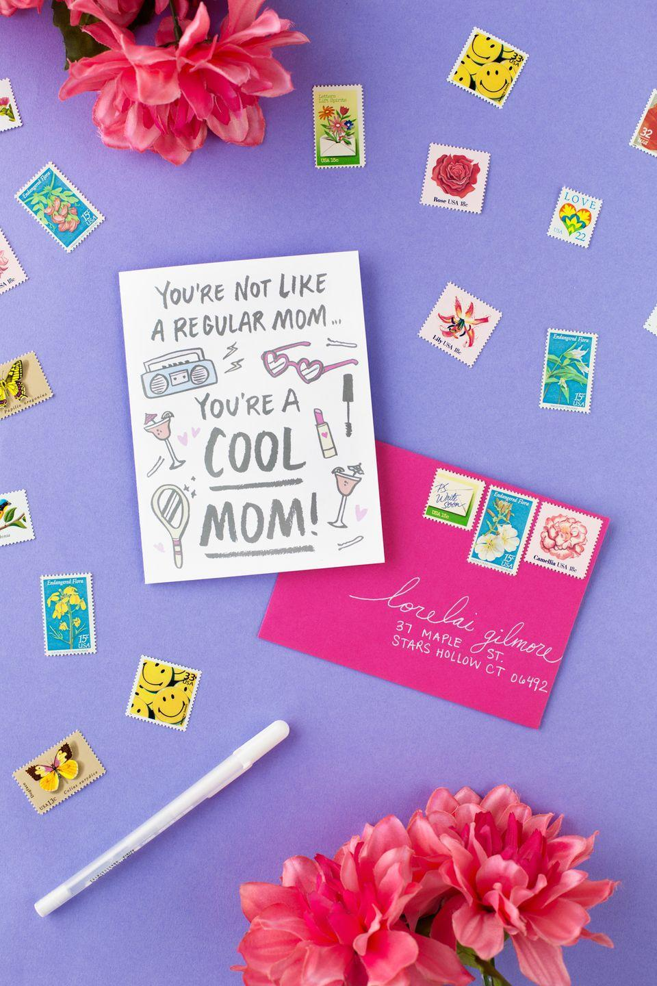 """<p>Tell your mom just how cool you think she is with this cute <em>Mean Girls</em>-inspired printable card. </p><p><strong>Get the printable at <a href=""""https://studiodiy.com/free-printable-mothers-day-cards/"""" rel=""""nofollow noopener"""" target=""""_blank"""" data-ylk=""""slk:Studio DIY!"""" class=""""link rapid-noclick-resp"""">Studio DIY!</a></strong></p><p><a class=""""link rapid-noclick-resp"""" href=""""https://www.amazon.com/Heavyweight-Blank-Greeting-Envelopes-Inches/dp/B00OS2YL9C?tag=syn-yahoo-20&ascsubtag=%5Bartid%7C2164.g.35668391%5Bsrc%7Cyahoo-us"""" rel=""""nofollow noopener"""" target=""""_blank"""" data-ylk=""""slk:SHOP BLANK WHITE GREETING CARDS"""">SHOP BLANK WHITE GREETING CARDS </a></p>"""