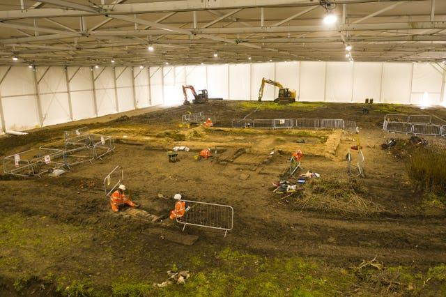 Medieval church excavated for HS2 railway