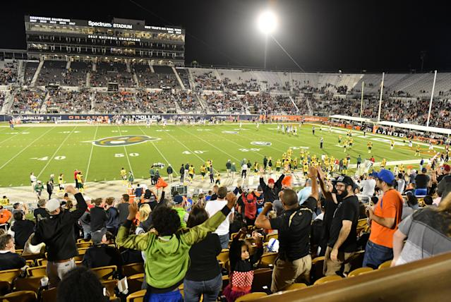 The Orlando Apollos of the short-lived AAF played home games at UCF's Spectrum Stadium. (Photo by Julio Aguilar/AAF/Getty Images)