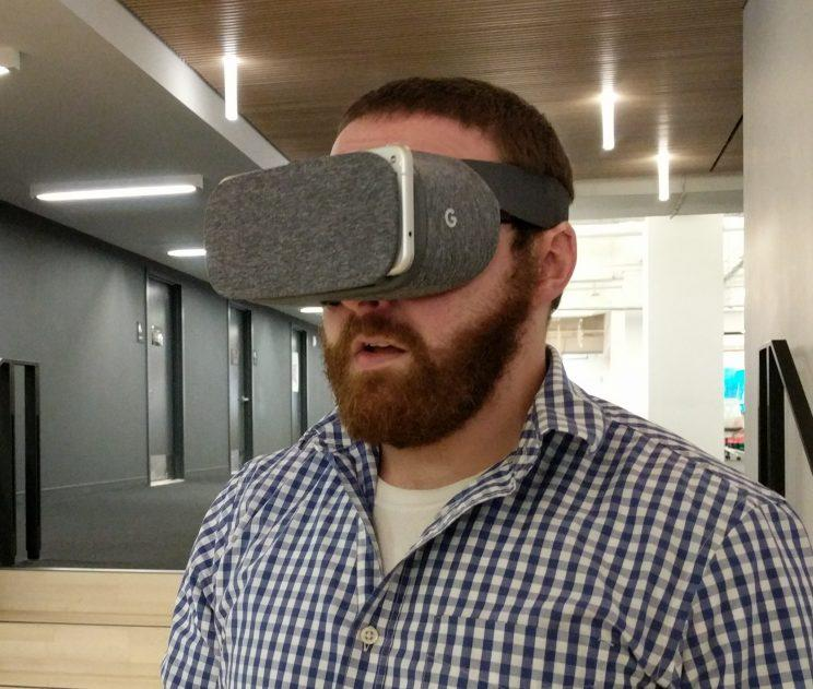 The Google Daydream View.