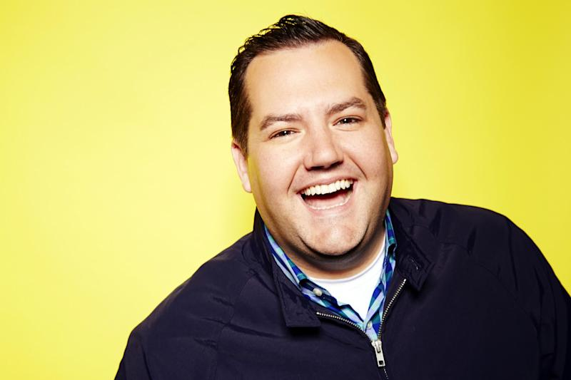 "This Aug. 26, 2013 photo shows TV personality Ross Mathews in New York. Matthews hosts the E! Network interactive talk show ""Hello Ross!"" airing Fridays. (Photo by Dan Hallman/Invision/AP)"