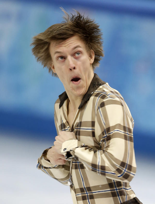 Tomas Verner of the Czech Republic competes in the men's short program figure skating competition at the Iceberg Skating Palace during the 2014 Winter Olympics, Thursday, Feb. 13, 2014, in Sochi, Russia. (AP Photo/Darron Cummings)