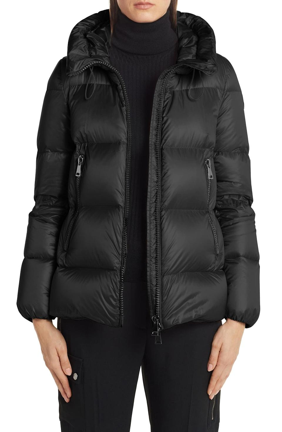 <p>This <span>Moncler Serite Hooded Quilted Down Puffer Jacket</span> ($1,240) is luxurious, but you'll have it forever. It's super warm but surprisingly lightweight.</p>