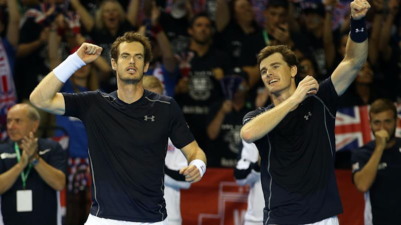 Andy Murray enjoys birthday hit with brother Jamie