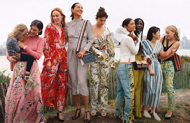 <p><strong>Models:</strong> Kiki Willems and Imaan Hammam, accompanied by a lineup of diverse, real New York women.<br><strong>Photographer:</strong> Oliver Hadlee Pearch<br>(Photo: Courtesy of Oliver Hadlee Pearch/DVF) </p>