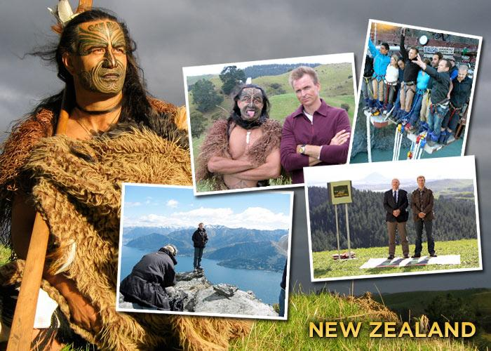 "Is there anything better than going home? We've been to my homeland three times on ""The Amazing Race."" One of my favorite places in the world is Queenstown in the South Island. I call it ""The Adventure Capital"" of the world.  I did my first bungee jump there back in 1989 and recently broke an unofficial world record with the co-creator when nine of us leaped off the Kawarau Bridge. My parents live in Rolleston, which is just outside Christchurch. They're both retired now and run a great bed and breakfast where they grow their own fruits and vegetables. Of course, seeing family is a big draw for me but I think New Zealand, which is only the size of the UK, packs a big punch for a small country.  It has Fiords, snowy mountains, active volcanoes, great skiing, surfing, sailing, tasty Pinots, no snakes, incredible forests and a fantastic culture."