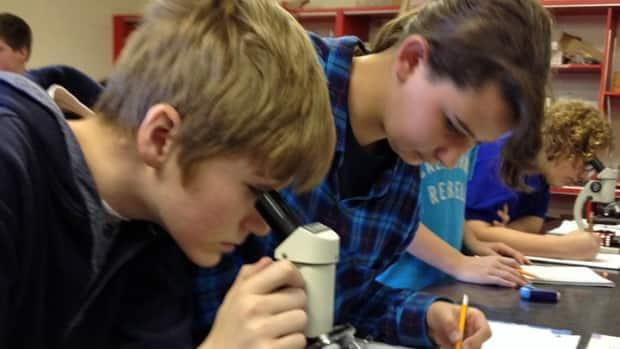 Sanofi Biogenius Canada is a science-based intiative that provides grants to schools in an effort to create more interest in science, technology, engineering and mathematics. (Steve Bruce/CBC - image credit)