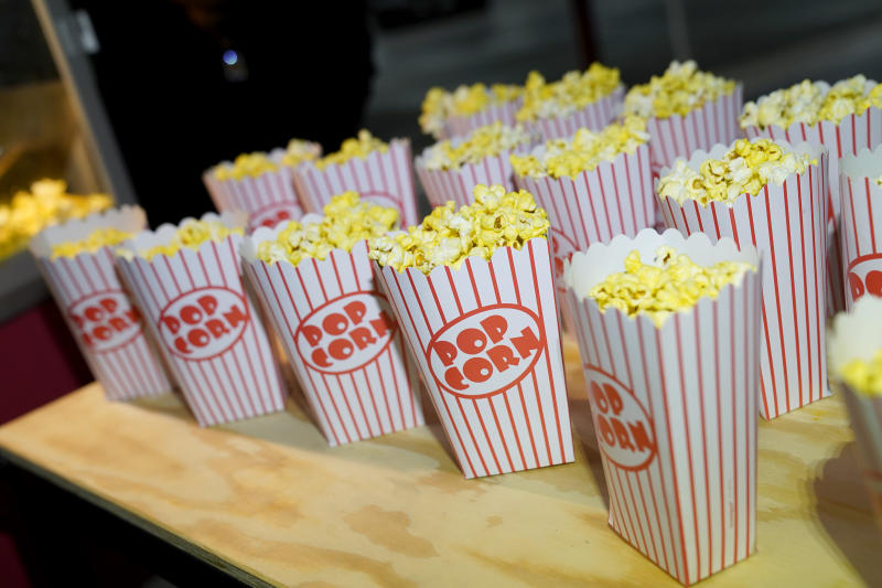 LOS ANGELES, CALIFORNIA - NOVEMBER 21: Popcorn on display during the fourth annual Volkswagen Drive-In Movie with Shay Mitchell at the Petersen Automotive Museum on November 21, 2019 in Los Angeles, California. (Photo by Erik Voake/Getty Images for Volkswagen)