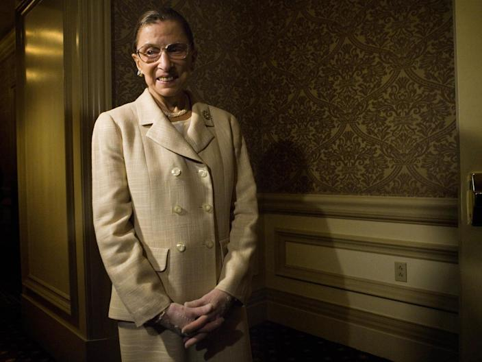 The nodules were found during tests ms Ginsburg had after fracturing three ribs in a fall last month
