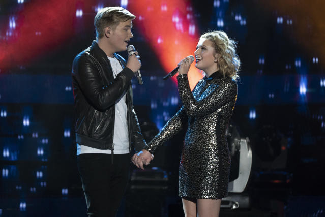 Caleb Lee Hutchinson and Maddie Poppe (Photo: ABC)