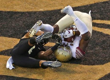 Florida State beats Wake Forest 26-19 on late TD for 1st win