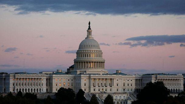 PHOTO: U.S. Capitol building is seen during a sunset in Washington on Oct. 17, 2019. (Gripas Yuri/ABACAPRRESS via Newscom )
