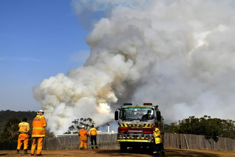 The milderconditions are expected to last around a week, giving firefighters time to try to get the fires under control (AFP Photo/SAEED KHAN)