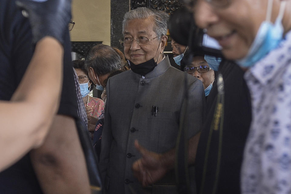Former prime minister Tun Dr Mahathir Mohammad is seen in this file picture taken on June 30, 2020. — Picture by Miera Zulyana