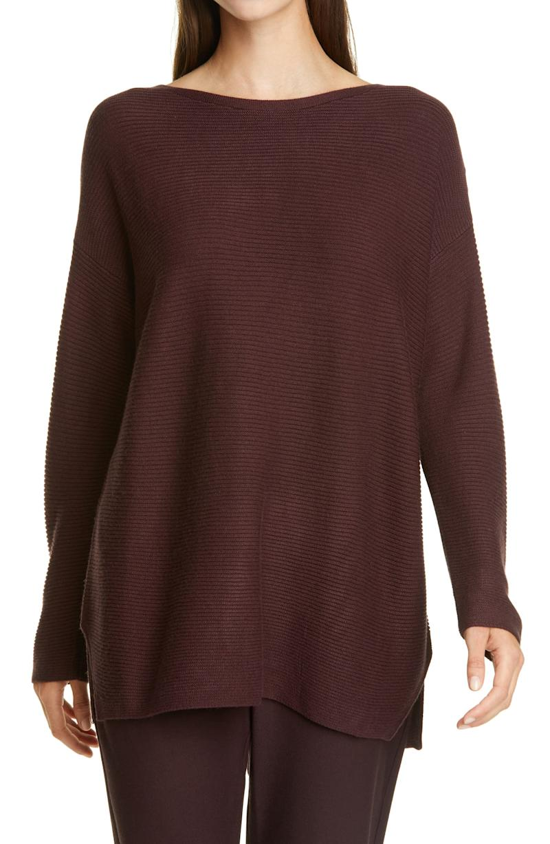 EILEEN FISHER Silk & Cashmere Tunic