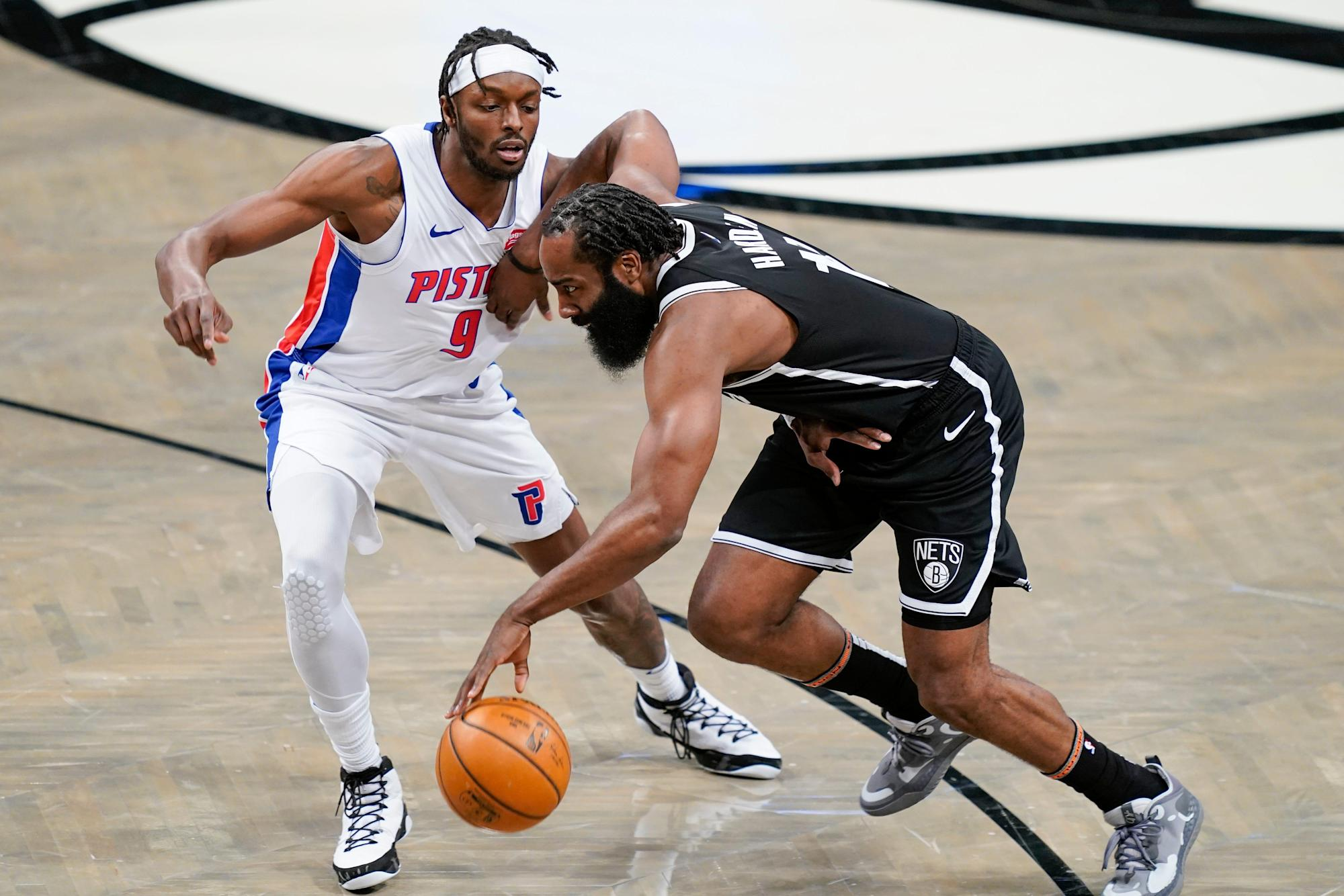 Detroit Pistons can't overcome James Harden triple-double, fall to Brooklyn  Nets, 100-95