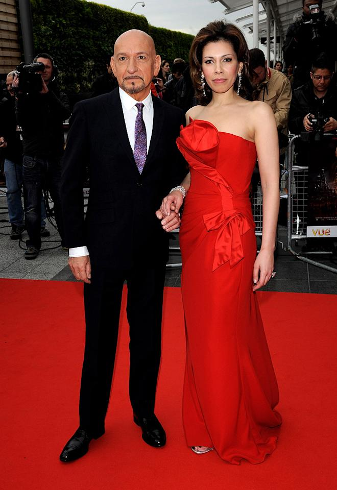 """<a href=""""http://movies.yahoo.com/movie/contributor/1800026534"""">Ben Kingsley</a> and <a href=""""http://movies.yahoo.com/movie/contributor/1808660979"""">Daniela Lavender</a> at the London premiere of <a href=""""http://movies.yahoo.com/movie/1810041991/info"""">Prince of Persia: The Sands of Time</a> - 05/09/2010"""