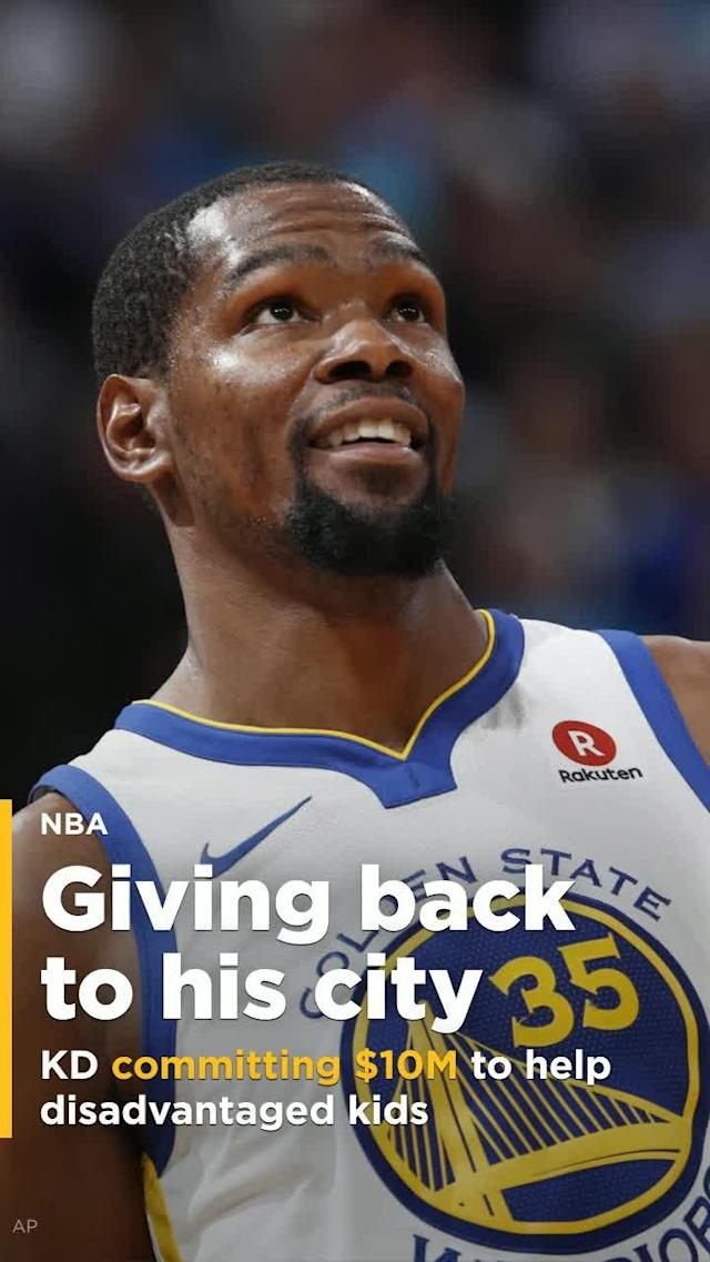 "Golden State Warriors forward Kevin Durant has committed $10 million to College Track, a program whose mission is to ""empower students from underserved communities to graduate from college."""