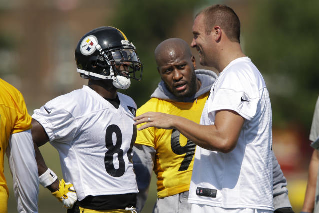 All in the family? During a radio interview, Ben Roethlisberger said Antonio Brown threw a temper tantrum against Baltimore. (AP)