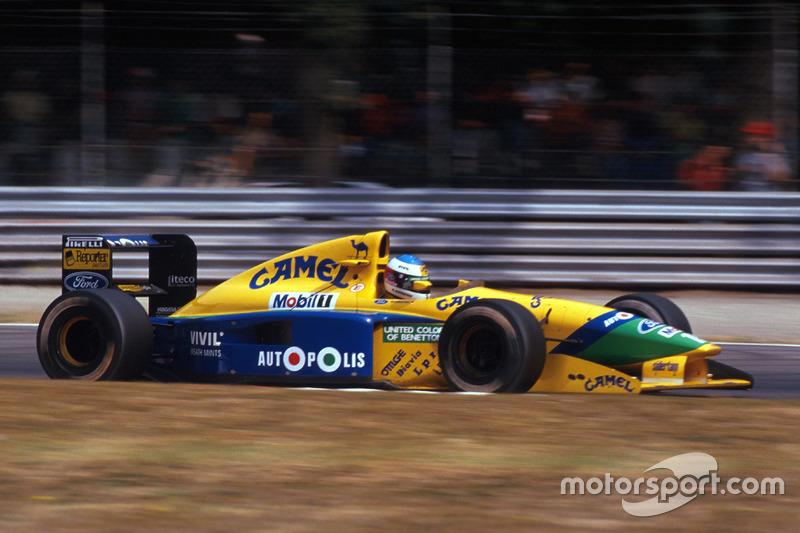 "1991: cambio a Benetton<span class=""copyright"">Sutton Motorsport Images</span>"