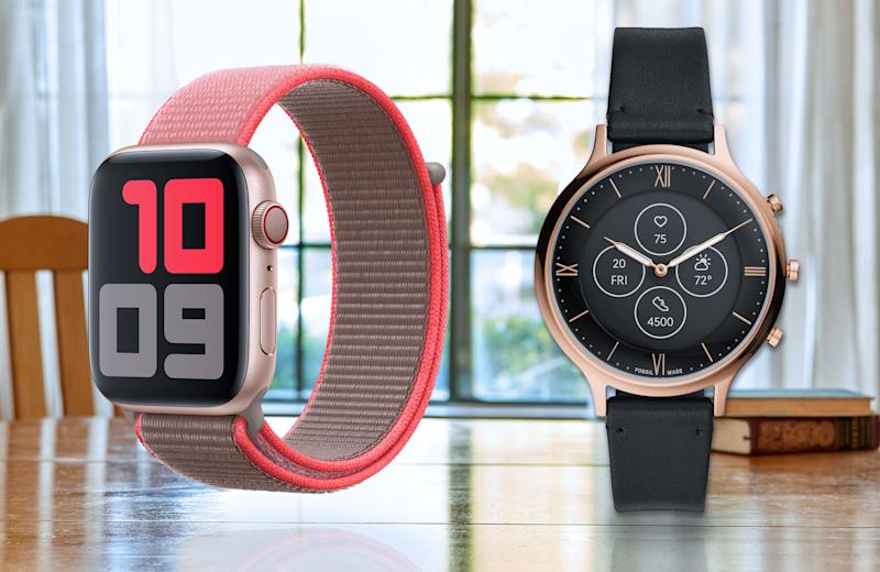 apple watch 5 and fossil HR charter