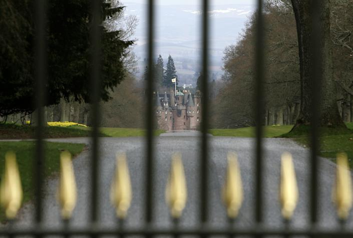 The assault took place at Glamis Castle. (PA)